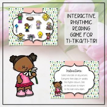 Spring Rhythm Reading Interactive Game - Ti-tika (Kodaly Review Game)