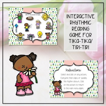 Spring Rhythm Reading Interactive Game - Tika-tika/16th (Kodaly Review Game)