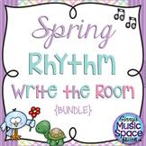 Spring Rhythm Write the Room {BUNDLE} {Kodaly} #musiccrewspring