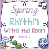 Spring Rhythm Write the Room {BUNDLE} {Kodaly} #musiccrewspring
