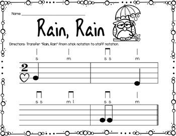 Spring Rhythm and Melody Worksheets
