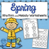 Spring Rhythm and Melody Worksheets