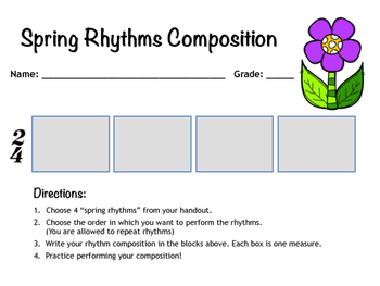 Spring Rhythms: Composition & Drum Circle Activity