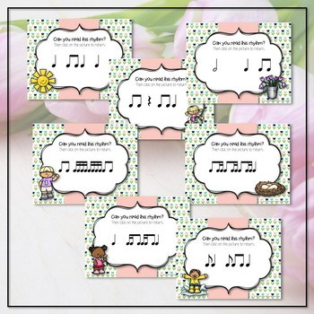 Spring Rhythms Reading Interactive Game - 7 Item BUNDLE (Kodaly Review Game)