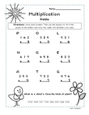 Spring Riddle Worksheet- Multiply 3-digit by 1-digit Numbers