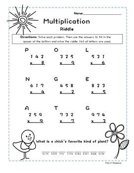 Multiplying 3 Digit By 1 Digit Teaching Resources | Teachers Pay ...