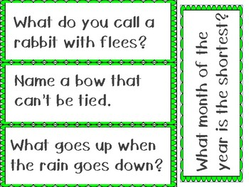 Spring Riddles Literacy Center with Booklet