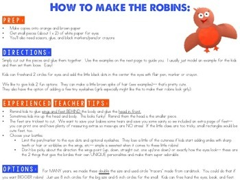 Spring Robins Project!  An adorable FREEBIE to brighten your day!