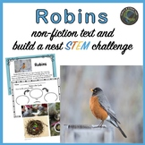 Robins Nonfiction Text for Primary Grades and Build a Nest STEM Challenge
