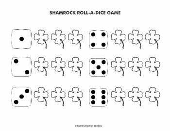 FREE Spring Speech Dice Games - Open Ended, Compare/Contrast, and Synonyms