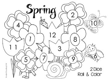 Spring Roll & Color (numbers 1-12) FREEBIE