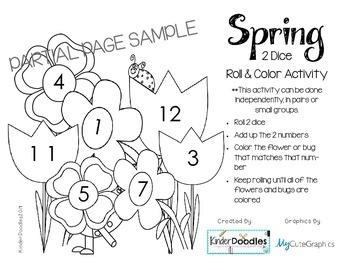 Spring Roll & Color (numbers 1-12) FREEBIE