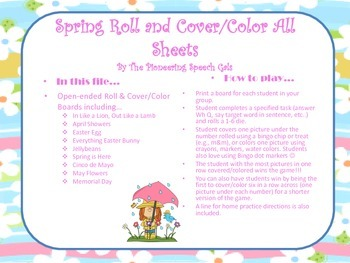 Spring Roll & Cover/Color Boards