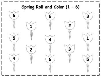 Spring Roll and Color {FREEBIE}
