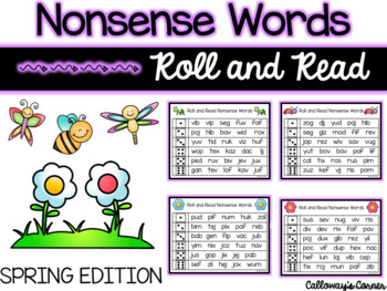 Spring Nonsense Words-EDITABLE POWERPOINT INCLUDED