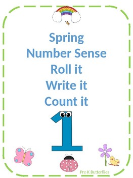 Spring Roll it, Write it, Count it mats