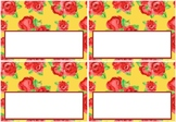 Spring Roses Classroom Labels, Flowers Desk Labels, Name Tags, Book Bin Labels