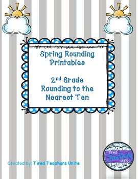Spring Rounding to the Nearest 10 Activities