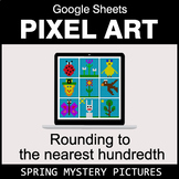 Spring: Rounding to the nearest 100th - Google Sheets Pixel Art