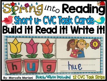 Spring-SHORT U Literacy Center- Spring into Learning-Read,