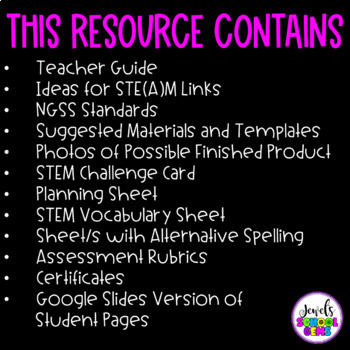 Spring STEM Activities (Umbrella Spring STEM Challenge)