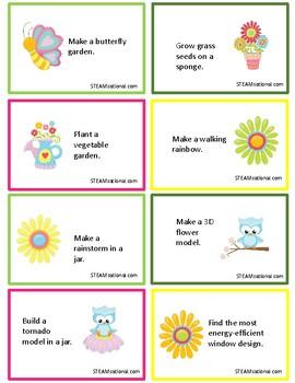 Spring STEM Challenge Cards
