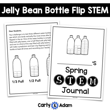 Jelly Bean Bottle Flipping Spring STEM Activity / Spring STEM Challenge