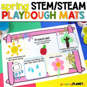 Spring STEM Play Dough Mats