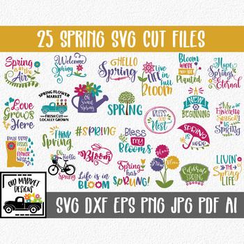 Spring SVG Cut file Bundle - 25 Images - Clip Art & More!