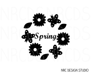 Spring SVG Cutting File V2 - Commercial Use SVG, DXF, EPS, png