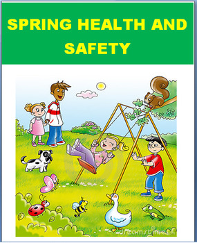 Spring Safety and Health Tips- lesson, 2 activities, coloring pages