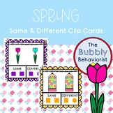 Spring Same and Different Clip Cards