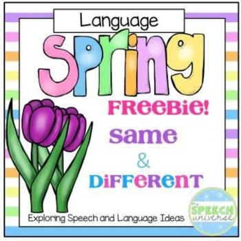 Spring Same and Different Freebie