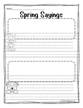 Spring Sayings FUN Sentence Building
