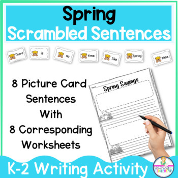 Spring FUN Sentence Building Writing Activity