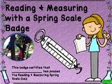 Spring Scale Badge + Quiz + Process Skills