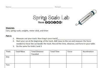 Spring Scale Lab