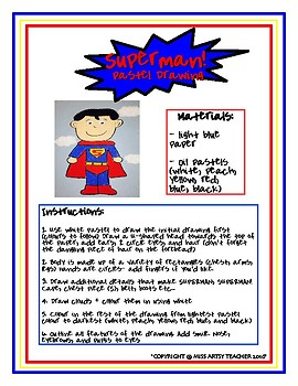 Art Lessons- Super Hero Art