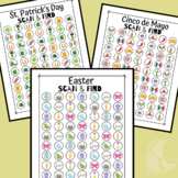 Spring Scan & Find Activity - Visual Scanning - Distance Learning