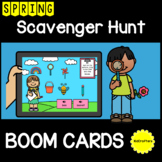 Spring Scavenger Hunt Boom Cards™ FREEBIE Distance Learning