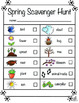 Spring Literacy Center Spring Scavenger Hunt (Differentiated)