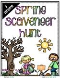 Spring Scavenger Hunt - Spring Nature Walk Exploration