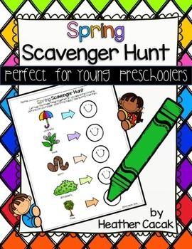 Spring Scavenger Hunt for Young Preschoolers