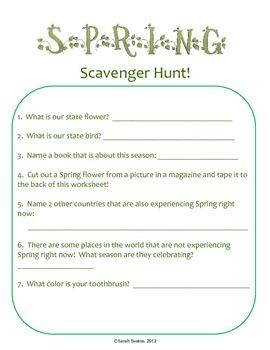 Spring Scavenger Hunt for the Weekend!
