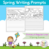 Spring Scene Writing Prompts Sentences Paragraph Word Bank Handwriting NO PREP