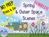 Spring Scenes BUNDLE Listening to Language Activity