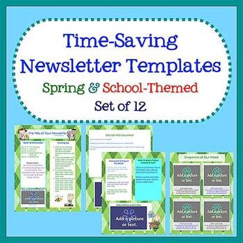 Spring school newsletter templates easy to use set of 12 tpt spring school newsletter templates easy to use set of 12 maxwellsz