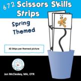 Spring Scissor Cutting Practice Vertical Strips
