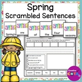 Spring Scrambled Sentence Cards and Worksheets