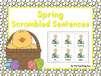 Spring Scrambled Sentences